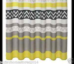 Image Is Loading HOME Chevron Shower Curtain Charcoal And Grey