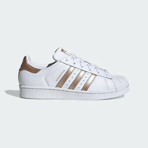 Adidas Superstar W women's low top sneakers copper red metallic casual trainers