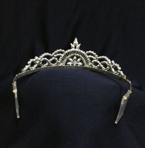 "Pick Your Color ! 2/"" Tall Crystal Rhinestones Tiara With Combs"