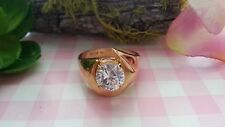 Beautiful White Cubic Zirconia Vermeil Ring Real Sterling Silver *Size 9 *H015