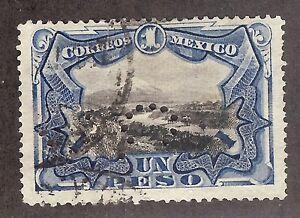 Mexico,1899,Scott#302,1peso, PERFIN perfs, used