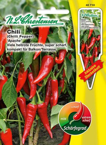 40710 Chili ´Apache´ Gewürzpaprika  bis zu 80.000 Scoville Saatgut