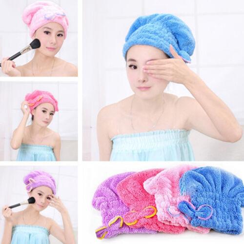 Cn /_ Eau Absorbant Turban Cheveux Secs Chapeau Microfibre Bowknot Bain Douche