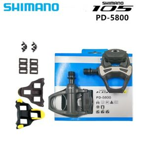 Shimano-105-Carbone-SPD-SL-sans-pince-Road-Bike-Cycle-Pedales-Crampons-PD-5800
