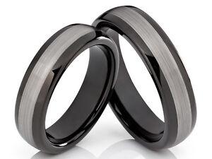 2 Wolfram Ringe Trauringe Eheringe mit Laserinnengravur
