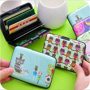 Owl plastic wallet credit card holder women slim business card hard image is loading owl plastic wallet credit card holder women slim reheart Image collections