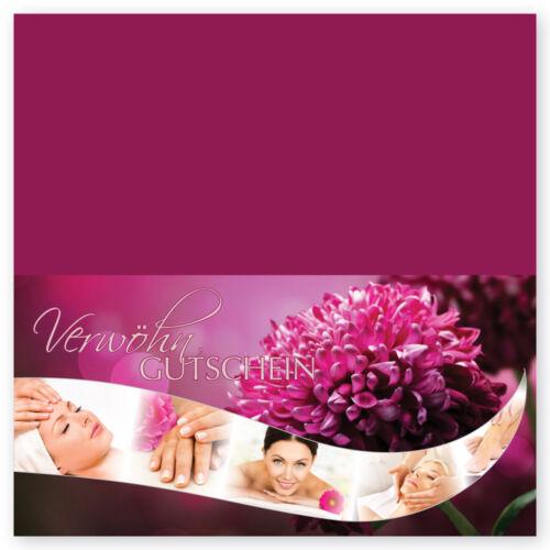 Geschenkgutschein Kosmetik /& Kosmetikstudio Gutschein JAPANESE SPA Klapp