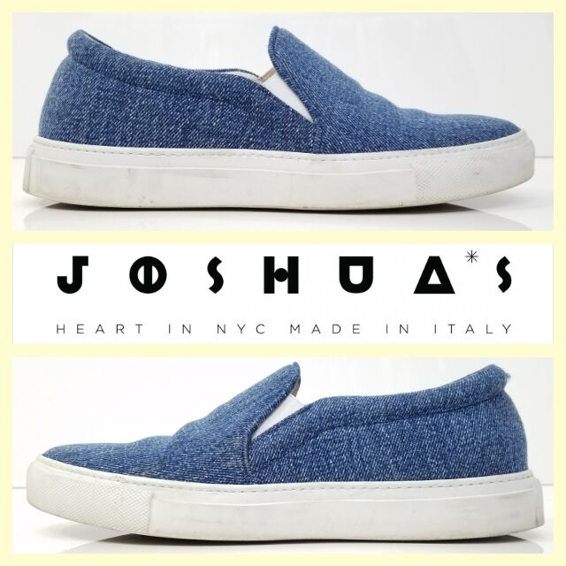 Joshua Sanders  bluee denim slip-on fashion sneakers37