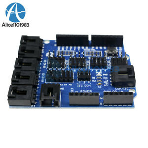 Arduino-UNO-MEGA-Duemilanove-Sensor-Shield-V4-Digital-Analog-Module-Servo-Motor