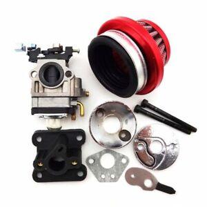 Pocket Bike Racing Carburetor Air Filter Stack Kit Carb 47cc 49cc Mini Dirt ATV