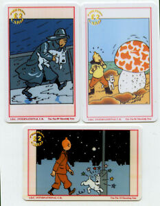 TINTIN-1990s-Set-of-3-United-KingdomTelepphone-Cards-Collectible-Original
