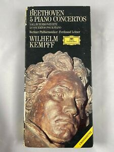 Beethoven 5 Piano Concertos 3 Cassette Tapes VINTAGE RARE