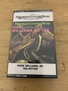 Hank-Williams-Sr-amp-Tex-Ritter-Cassette-History-of-Country-Music-Sunrise-Media