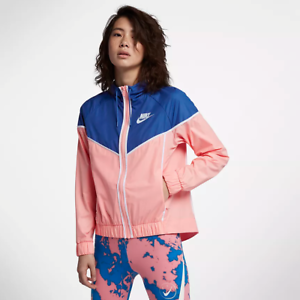 Details about Nike WOMEN'S Sportswear Windrunner Bleached CoralGame RoyalWhite SIZE XS RARE