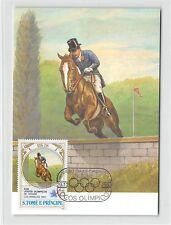 S. TOME MK 1984 OLYMPIA USA LA OLYMPICS REITEN PFERD CARTE MAXIMUM CARD MC m274