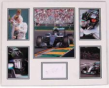 F1 Nico ROSBERG Signed Mounted Photo DISPLAY AMG MERCEDES AFTAL COA Autograph