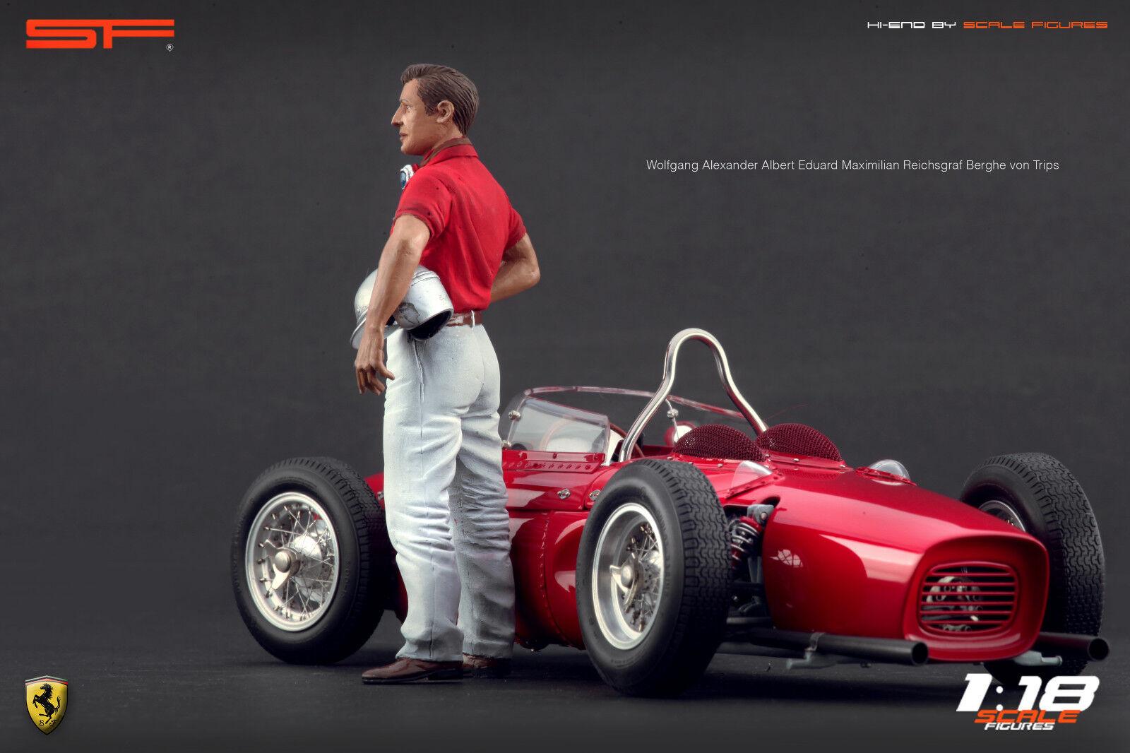 1/18 Wolfgang von Trips Muy Raro Figuras Para  Ferrari Autoart Exoto