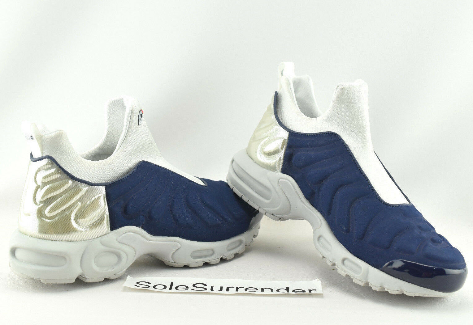 Nike Nike Nike Air Max Plus Slip SP - SIZE 9 - NEW - 940382-400 On Navy White Silver OG QS 4bf28f