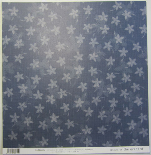 "12 Scrapbooking Australia Blue Colours of Orchard 12/""x12/"" Paper /& Journal Blocks"