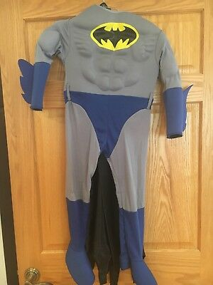 Kids Deluxe Muscle Chest Batman Costume Size Small 4-6