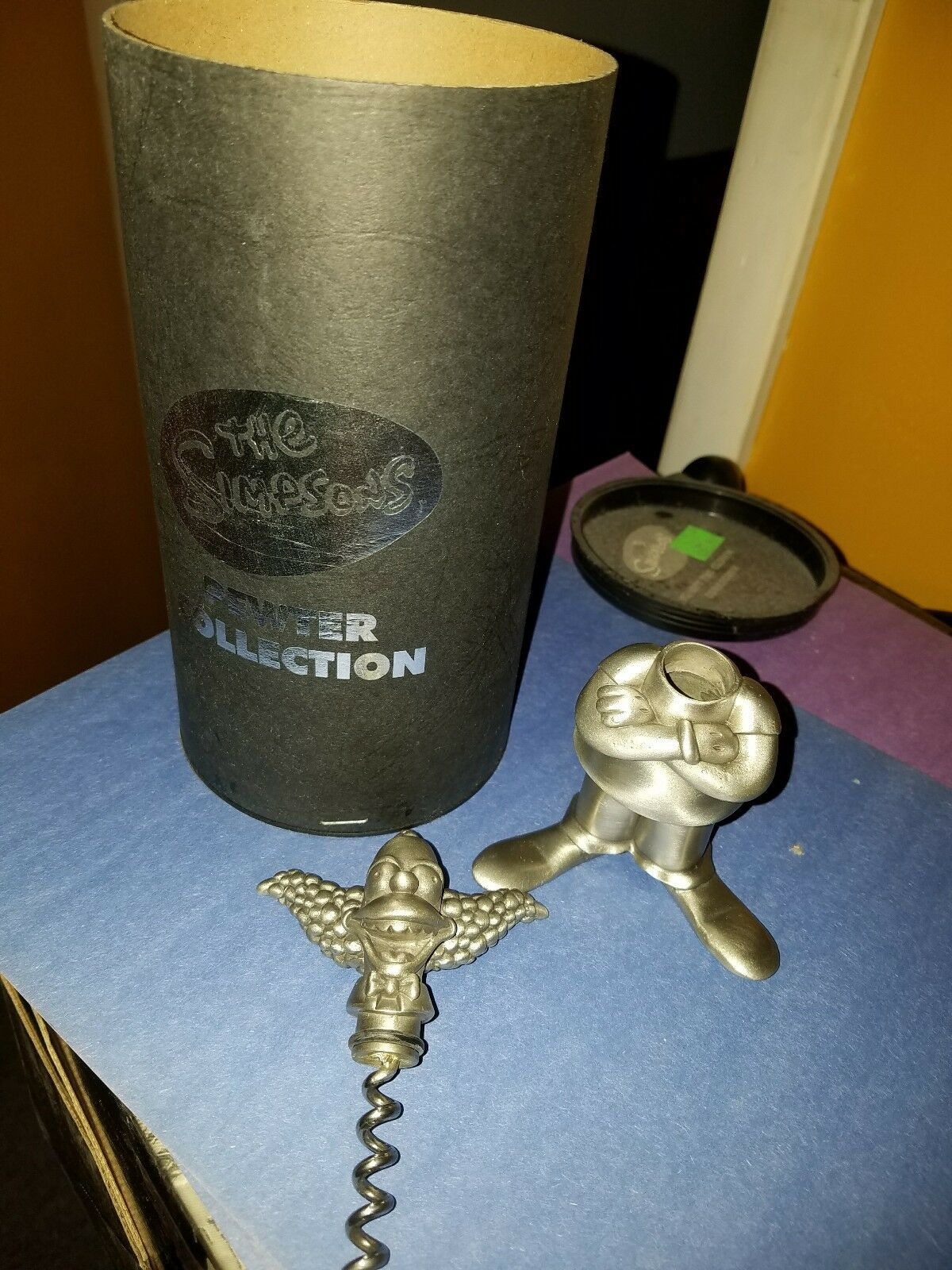 SIMPSON .. .. .. KRUSTY THE CLOWN PEWTER .. CORKSCREW COLLECTION .. LIMITED .. RARE .. 64a913