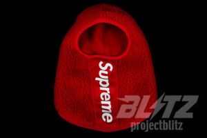 Image Is Loading Supreme Polartec Deep Pile Balaclava Face Mask Red