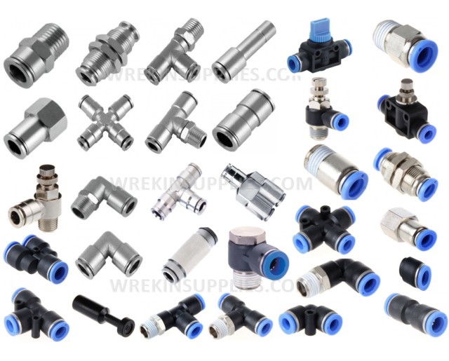 """4Pcs 4mm One Push To Connect Fitting Straight Male Connector BSP Thread 1//8/"""""""
