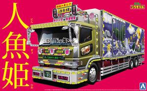 Hino-The-Mermaid-Ningyohime-Truck-Reefer-Trailer-1-32-Model-Kit-Aoshima-051504