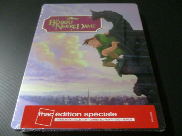 """COFFRET STEELBOOK BLU-RAY + DVD NEUF """"LE BOSSU DE NOTRE DAME"""" Disney"""