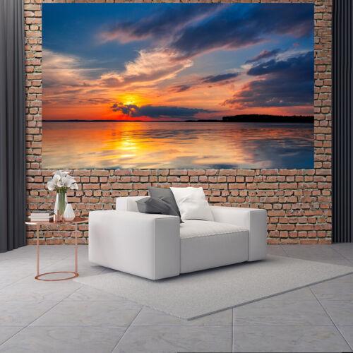 Fototapete Vlies und Papier Tapete Sonnenuntergang am Wasser Nr DS5481