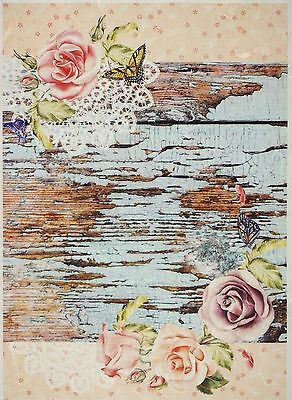 Papel De Arroz Para Decoupage Decopatch Scrapbook Craft Hoja Vintage Rosas