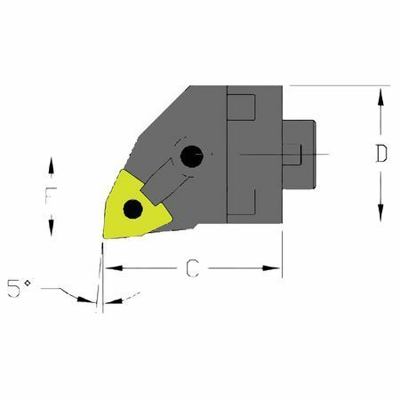 ULTRA-DEX USA MH32 MWLNR4-CFT Boring Bar,MH32 MWLNR4-CFT