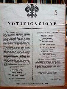 Granducato-di-Toscana-Notificazione-Misure-sanitarie-Farmacie-Firenze-anno-1835