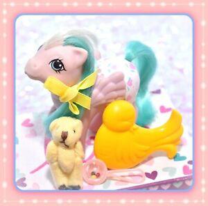 ❤️My Little Pony MLP G1 Vtg EURO Baby Fancy Pants Baby Dots 'n Hearts BRUSH❤️