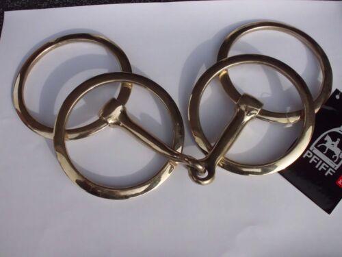 Doppelringtrense einfach gebrochen Größe 12,5  aus Argentan von Pfiff Reit- & Fahrsport Fahrgebisse & -kandaren