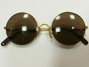 5afc689fef6e33 Image is loading Cartier-Paris-MAYFAIR-18k-GOLD-plated-round-sunglasses-
