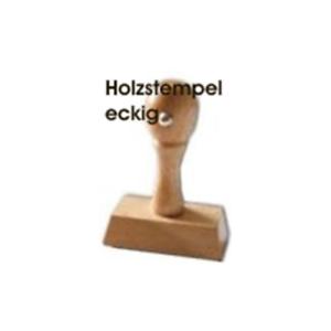 auf Wunsch Kissen Colop M1 M2 Holzstempel 10mm Höhe ohne Platte Breite wählbar