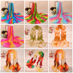 New-Women-Floral-Tribal-Printed-Soft-Long-Stole-Chiffon-Wrap-Shawl-Scarf-Scarves