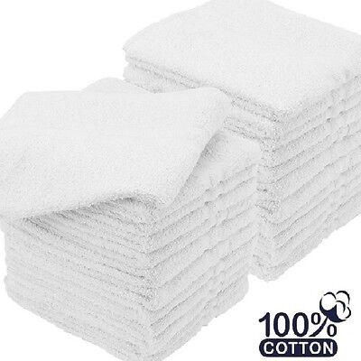 60 New White Bath WASHCLOTHS 12X12 1 Lb//Dz Rigspun  Economy Plus Grade V2120