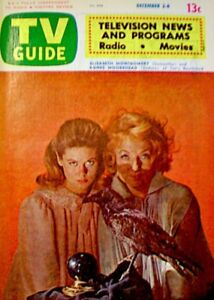 TV-Guide-1972-Bewitched-Elizabeth-Montgomery-Agnes-Moorehead-Halloween-COA