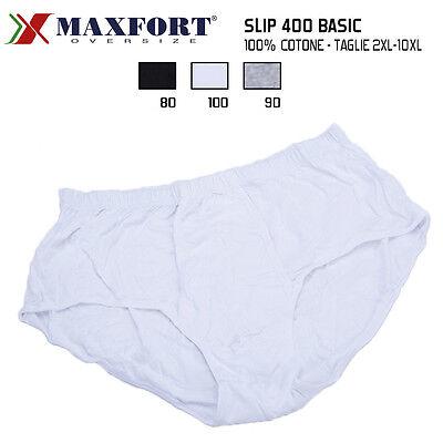 6 SLIP MUTANDE UOMO INTIMO MAXFORT 400 BOXER COTONE TAGLIE FORTI FINO 10XL