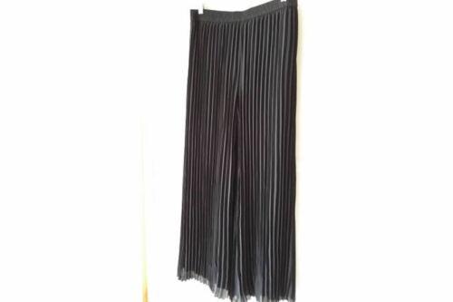 CHICO/'S Pleated Palazzo Pants Black NWT Size .5 6