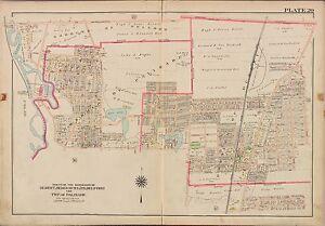 1913 GW BROMLEY TENAFLY ENGLEWOOD CLIFFS BERGEN COUNTY NEW JERSEY COPY ATLAS MAP