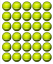 30 TENNIS BALLS Edible Cupcake Toppers Wafer Paper Birthday Cake Decoration #1