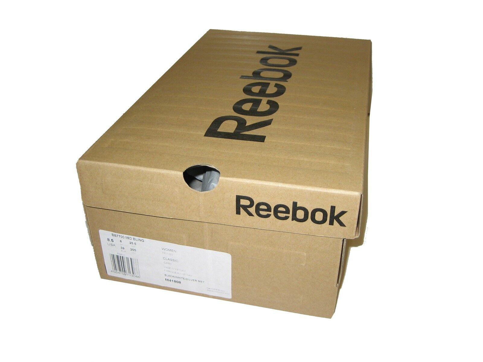 Reebok scarpe scarpe scarpe da ginnastica donna, bb7700 Mid BLING Nero (nero bianca argento Met) NUOVO | Negozio  | Uomini/Donne Scarpa  0f5ed6