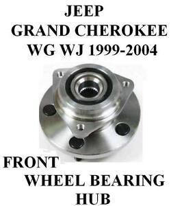 jeep grand cherokee front wheel bearing hub kit assembly. Black Bedroom Furniture Sets. Home Design Ideas