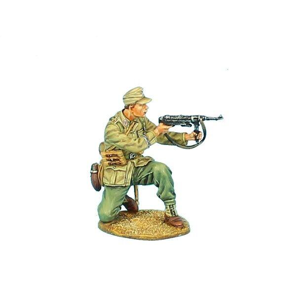 DAK027 Das Deutsche Afrika Korps Feldwebel Kneeling Firing MP40 by First Legion