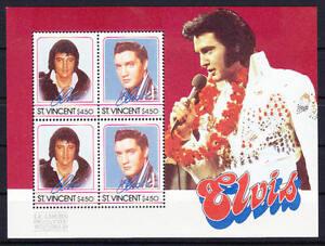 Belle Saint-vincent-michel-nº Bloc 25 De 1985 Cachet/** (musique: Elvis Presley) Une Gamme ComplèTe De SpéCifications