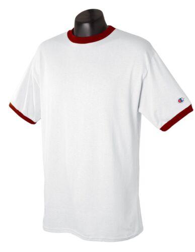 Champion Sports Mens NEW Size S M L XL 2XL XXL Tagless RINGER T-Shirts 14 Colors