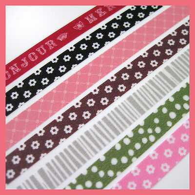 45Pcs//Set Washi Paper Stickers Travel Floral Scrapbooking Decor Masking D8L6